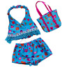 "8"" BLUE TANKINI SWIM BEACH WEAR TEDDY BEAR CLOTHES FITS 8""-10"" /20cm TEDDY BEARS"