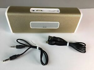 Portable Gold and Ivory Wireless Bluetooth Speaker