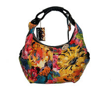 $298 CHARMÈS *NWT* SLOUCH LEATHER HOBO FLORAL ART PRINT XL SHOULDER BAG