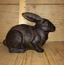 "Bunny Cast Iron Door Stop 5"" tall 7 1/2"" long Home & Garden Decor 0170S--04669"