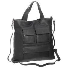 4857d52a4c0 Authentic Kooba Leather Handbag Bag Black Logo Tote Womens Strap Big