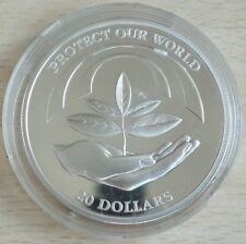 Niue 20 Dollars 1993 Protect Our World Setzling Silber