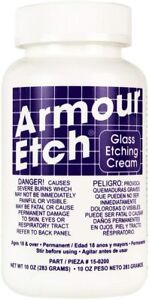 Armour Etch Glass 10 Oz  Etching Cream 15-0200 - Free Same Day Shipping