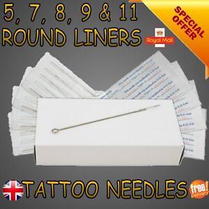 Round Liner 5 7 8 9 11rl Tattoo Needles Sterile Premium Quality Hand DIY