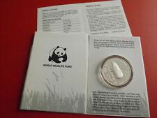 * Sierra Leone 10 Leones 1987 Silber PP(ca.28,2g.)*WWF*Zwergflusspferd (ALB20)