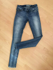 Jeans Blau Only S 36 Waschung Washed 27/32 Röhrenjeans Denim