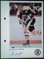 ED WESTFALL  BOSTON BRUINS  71/72 TORONTO SUN 5-1/4 X 7 PHOTO CARD
