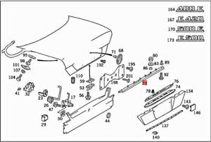 Genuine MERCEDES A124 C124 W124 CABRIOLET A124 Handle molding 1247500193