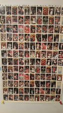 93-94 Topps Series1 Basketball Uncut Sheets 28.5 x 43.5 Total 264 cards