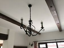 Elstead Forge Wrought Iron Chandelier - 3 Lamp