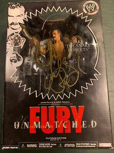 Jake the Snake Roberts WWE Unmatched Fury JAKKS Platinum Series Rare Autograph