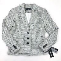 Karl Lagerfeld Paris Womens Blazer Jacket Three Button Lined Sz 4 NWT