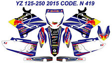 N419 YAMAHA YZ 125-250 2015 2016 2017 Autocollants Déco Graphics Stickers Decal