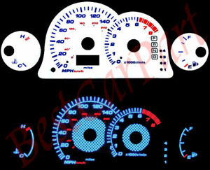 00-05 Eclipse l4 AT BLUE INDIGLO GLOW WHITE GAUGES