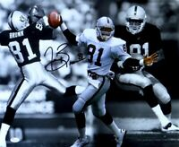 Tim Brown Signed Autographed 16X20 Photo Raiders Catch Collage JSA U76233