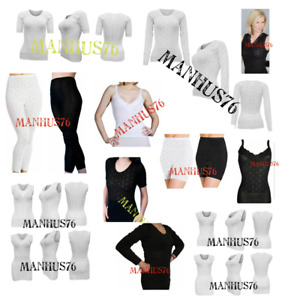 Ladies Snowdrop Thermal Underwear - cotton soft Vest Tops & pantee, Long Johns