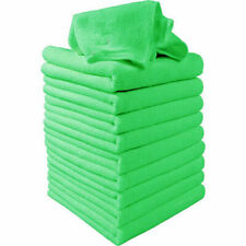 10pcs Green Microfiber Washcloth Car Care Cleaning Towels Soft Cloths 25 × 25cm