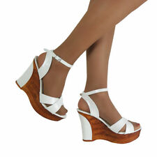 Leather Wedge Party Heels for Women