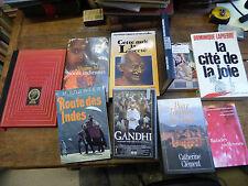 lot de 9 livres et 1 cassette sur l'inde - gandhi