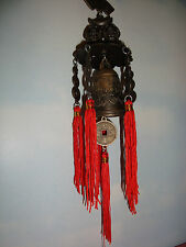 Chinese,Lucky Metal~Dbl Buddha~ Windchime~Bell~Hanging~003~Feng Shui~uk seller~