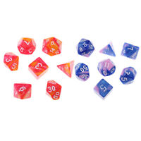 14pcs Polyhedral Dices D20 D12 D10 D8 D6 Die for Dungeons &Dragons MTG RPG