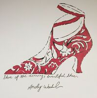 ORIGINAL ANDY WARHOL HAND DRAWN & SIGNED WATERCOLOR * SHOE OF THE EVENING *