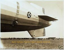 """REPRINT OF UNDATED PHOTO OF USS AKRON AIRSHIP END SECTION CLOSEUP - 8"""" by 10"""""""