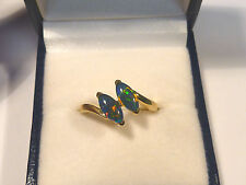 Opal Ring Ladies 14ct Yellow Gold Triplet # 30973
