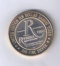 Riviera Hotel Casino $10.00 Silver Strike .999 Silver Las Vegas Nevada