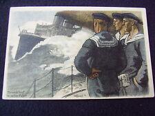 FELDPOSTKARTE~TORPEDOBOOT IN VOLLER FAHRT~SIGNED W. GEORGI~PROMO LEIBNIZ~ca 1918