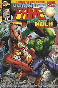 PRIME vs INCREDIBLE HULK comic  rare # 0 marvel  limited premium edition+