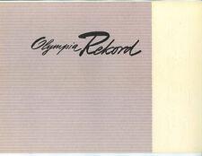Opel   Catalog  Rekord  Circa 1955