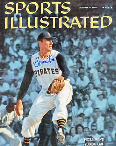 VERN LAW PITTSBURGH PIRATES  SPORTS ILLUSTRATED  ACTION SIGNED 8x10