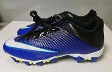 NEW Nike Men's VPR Fastflex Football Cleats Electric Blue White Black Sz 9.5
