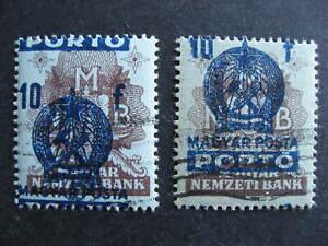 Hungary 2 overprint misprint errors Sc J196 used