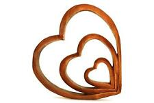 Wooden Handmade Abstract Sculpture Statue Handcrafted Home Decor Hearts of Love