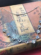 Edwardian Cut Glass Crystal Necklace Open Back 1900 1910 Silver