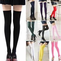 Girls Japanese Stripes Thigh High Stocking JK School Over Knee Socks New