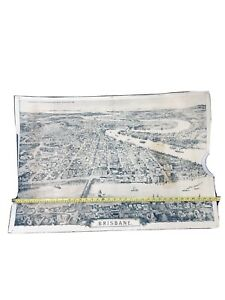 Early Large Map of Brisbane as seen in the year of 1888