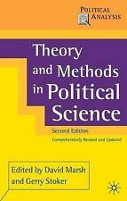 Theory and Methods in Political Science by Palgrave Macmillan (Paperback, 2002)