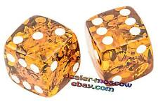 Baltic Honey Amber Vintage Set of 2pcs Dice for Board Game Original Gift