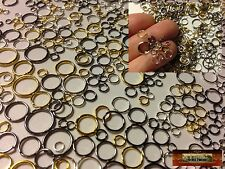 M01122 MOREZMORE 600 Mini Jump Rings 3 4 5 6 7 8 9 10 mm Gold Silver Bronze A60