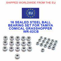 TAMIYA COMICAL GRASSHOPPER WR-02CB 16 STEEL SEALED BALL BEARING KIT