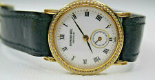 Raymond Weil Geneve Gold Plated Black Strap special dial ladies watch