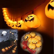 24 X HALLOWEEN LED STRING LIGHTS SPOOKY MINI PUMPKIN DECORATION PARTY OUT DOOR