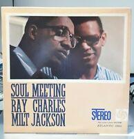 "Rare STEREO USA 1961 Ray Charles & Milt Jackson ""Soul Meeting""  LP Atlantic 1360"