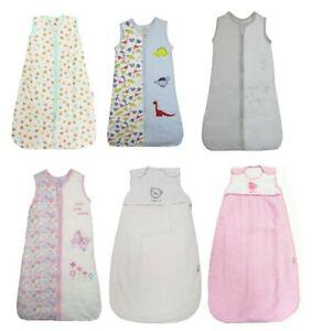 Boys Girls Baby Sleeping Sleep Bag 0 6 12 18 Mths 2.5 Tog White Pink Grey Winter