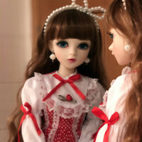 """24"""" 1/3 BJD Doll Free Eyes Face Make up Clothes Dress Wig Toy Girl Gift FULL SET"""