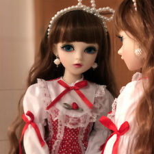 "24"" 1/3 BJD Doll Free Eyes Face Make up Clothes Dress Wig Toy Girl Gift FULL SET"