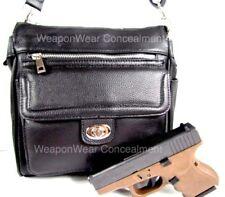 Concealed Carry Gun Concealment Purse for Medium Size Black Locking Organizer